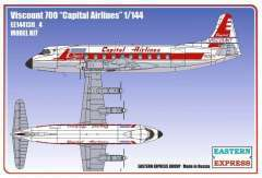 Eastern Express Viscount 700 Capital Airlines модель 1/144