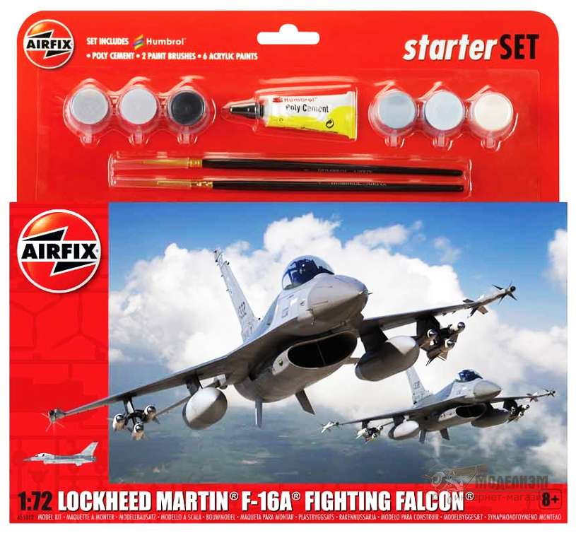 Lockheed Martin F-16A Fighting Falcon Airfix 55312 модель 1/72. Картинка №1