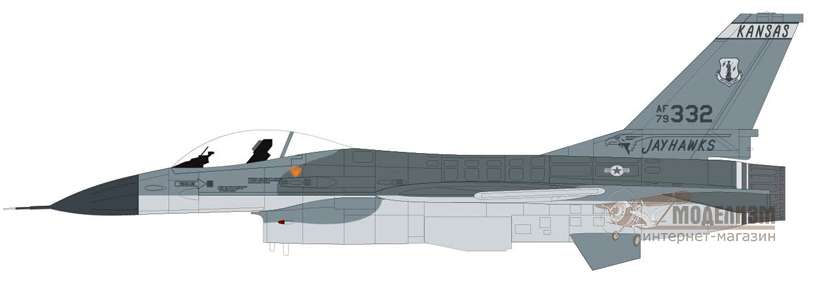Lockheed Martin F-16A Fighting Falcon Airfix 55312 модель 1/72. Картинка №2